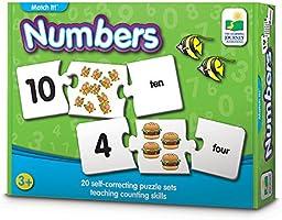 """El viaje de aprendizaje Match it. Juegos, Números, 3"""" H x 9"""" W x 0.1"""" D"""