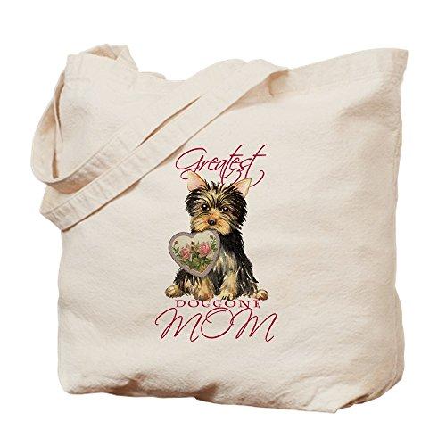 CafePress - Yorkie Mom - Natural Canvas Tote Bag, Cloth Shopping ()