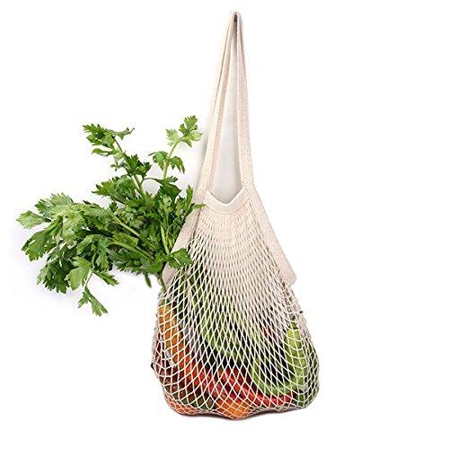Vivona HN-B27 Multifunctional Reusable Grocery Bags 9 Colors String Shopping Bag Mesh Storage Bag - (Type: Short Handle, Color: Green)