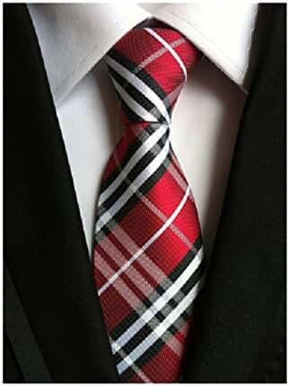 Striped Silk Woven Classic Check Man's Business Tie Necktie Korea Style Ties