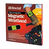 The Brackit Magnetic Wristband for Holding Screws, Nails, Bolts, Drilling Bits, Screwdriver Bits. A Must Have Item in Your Tool Bag,