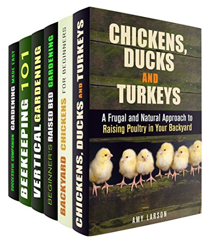 Urban Farming Box Set (6 in 1): Frugal Tips to Raising Poultry, Choosing Coops, Vertical, Raised Bed Gardening and Beekeeing to Help You Become a Self-Sufficient ... Farmer (Urban Gardening & Homesteading) by [Larson, Amy, Hansen, Michael, Riley, Matt, Hicks, Carrie, Romero, Kirk]