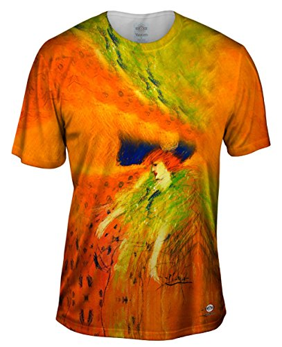 Yizzam- Pablo Picasso - Woman with Blue Hat (1901) -Tshirt- Mens Shirt-4X