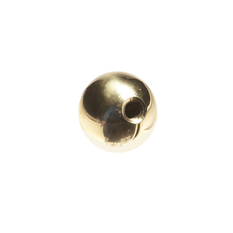 J.W. Winco 14TSB3/BR BK Brass Ball Knob