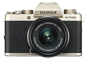 Fujifilm X-T100 w/XC15-45mm Kit Champagne Gold Mirrorless Digital Camera with 3.0