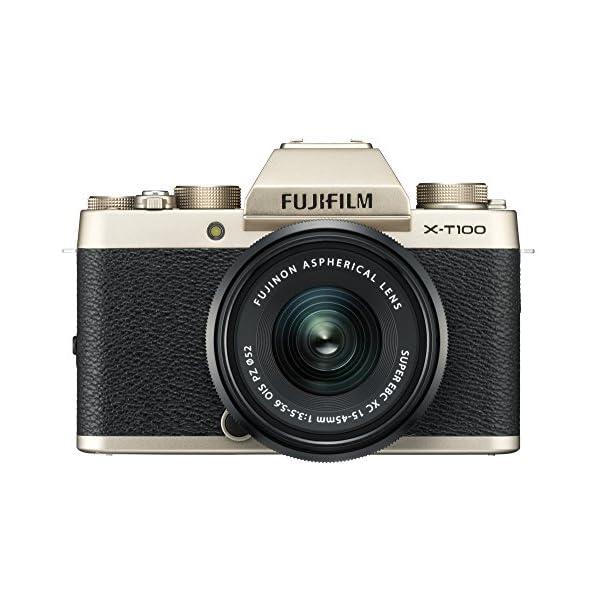 51s7xJ UQkL. SS600  - Fujifilm X-T100 Mirrorless Digital Camera w/XC15-45mmF3.5-5.6 OIS PZ Lens - Champagne Gold