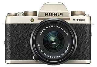 Fujifilm X-T100 Mirrorless Digital Camera w/XC15-45mm F/3.5-5.6 OIS PZ Lens, Champagne Gold (B07D7JX5XF) | Amazon price tracker / tracking, Amazon price history charts, Amazon price watches, Amazon price drop alerts