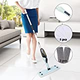 Spray Mop for Cleaning with Reusable Microfiber Pad, 360 Degree Rotating Mop Head Strong Decontamination Ability Mops for House, Kitchen, Hardwood, Ceramic, Tile