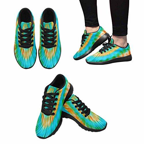 InterestPrint Womens Jogging Running Sneaker Lightweight Go Easy Walking Comfort Sports Running Shoes Blur Tie Dye Bright Colors Background Multi 1 4BRNk
