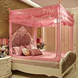 HEXbaby Mosquito Net for Bed - 4 Corner Canopy for Beds, Canopy Bed Curtains, Bed Canopy for Girls Kids Toddlers Crib, Bedroom Decor,180200cm
