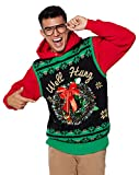 Light Up Well Hung Ugly Christmas Sweater Vest - L