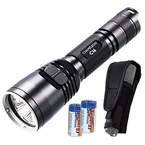 Nitecore Bundle CI6 850nm 1500mw Long Range High Power LED Infrared IR Illuminator with 2x CR123A Batteries & Keychain Light