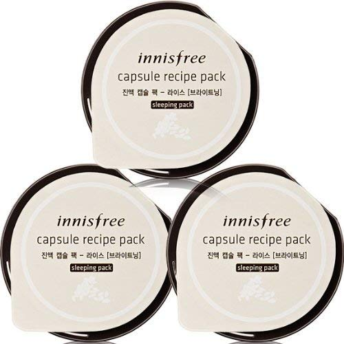 Innisfree Capsule Recipe 3 pack set Rice 10mlx3pcs-Brightning Sleeping pack