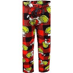 Dr. Seuss Women's The Grinch Super Soft Plush Fleece Sleep Pants (The Grinch, Medium)