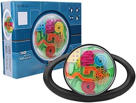 Tnfeeon Juguete desafiante para Enigmas, Bola de Laberinto esférico 3D de Inteligencia Infantil con obstáculos múltiples Competencia de Carreras para niños(Volante 965-Inglés): Amazon.es: Juguetes y juegos