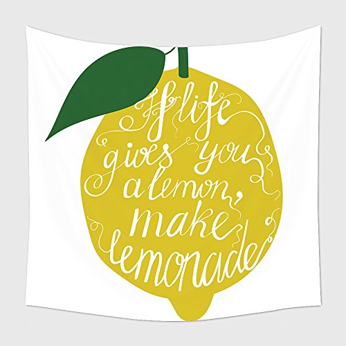 Home Decor Tapestry Wall Hanging Hand Drawn Typography Poster Motivation Quote About Life Gives You Lemon Make Lemonade Isolated 265409033 for Bedroom Living Room Dorm
