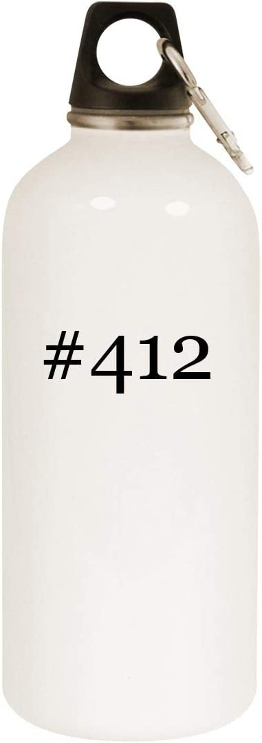 #412-20oz Hashtag Stainless Steel White Water Bottle with Carabiner, White 51s7zTPFmML