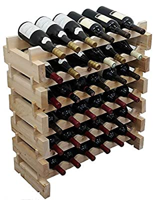 DisplayGifts Stackable Storage Wine Rack Stand, Wobble-Free,