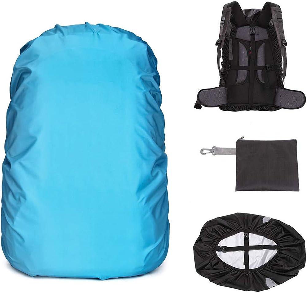 20-45L Waterproof Dust Rain Cover Travel Hiking Backpack Camping Rucksack Bag @