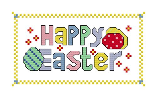 Happy Easter cross stitch chart/ pattern: Cross stitch design suitable for making Eatser cards/ putting in (Easter Cross Stitch Pattern)