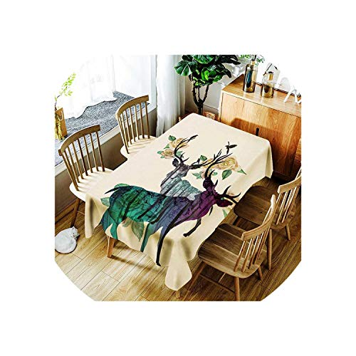 See Something Oilproof Tablecloth Waterproof Table Cloth Rectangular Tablecloth for Table Oilcloth Fabric Covering,BO423,150X300cm