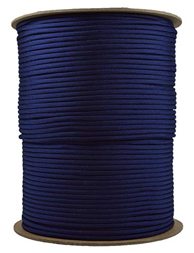Acid Midnight Blue Mil-Spec Commercial Grade 550lb Type III Nylon Paracord - 1000 Foot Spool by Bored Paracord (Image #1)