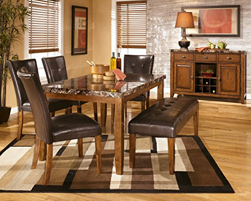 Ashley Furniture Signature Design - Lacey Large Dining Room Bench - Upholstered - Contemporary - Medium Brown by Signature Design by Ashley (Image #3)