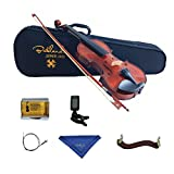 Bailando 1/4 Size Handmade Solid Wooden Violin Starter Kit - Natural