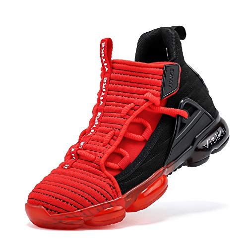 VITUOFLY Kids Basketball Shoes Boys Sneakers Girls Mid Top School Training Shoes Non-Slip Outdoor Sports Shoes Comfortable Boys Running Shoes Durable Little Kid/Big Kid