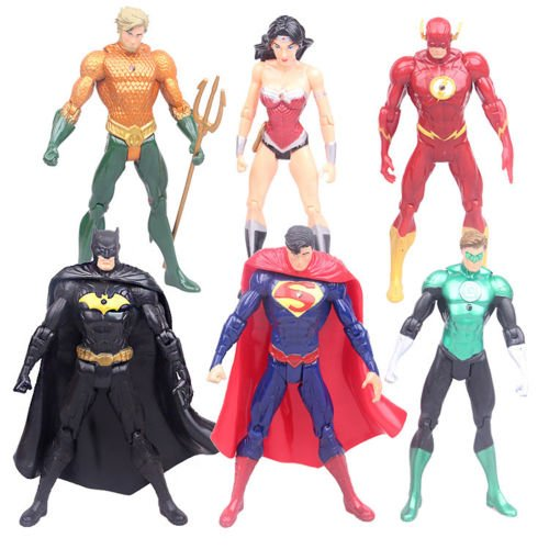 Red Arrows Plane (US 6 PCS Justice League Superman Batman Flash Aquaman DC Universe action Figures)