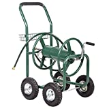 BestMassage Garden Water Hose Reel Cart Garden Cart Heavy Duty 300FT Hose Yard Water Planting