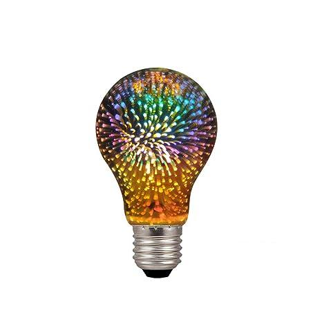 Century Light - A19/A60 4W LED 3D Colorful Star Fireworks Light Bulb(2200K