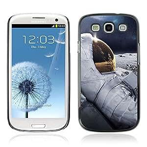 A-type Arte & diseño plástico duro Fundas Cover Cubre Hard Case Cover para Samsung Galaxy S3 III / i9300 i717 ( Enfriar Luna Astronauta )
