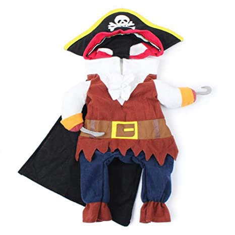 DOGCATMM Disfraces De Gatos Divertidos Traje De Pirata Ropa ...