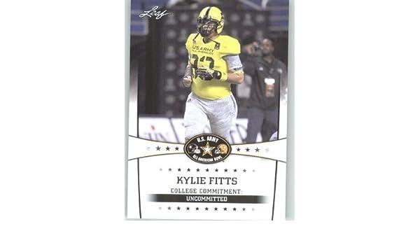 promo code 078b5 6d598 2013 Leaf Army All-American Football Card #65 Kylie Fitts DL ...
