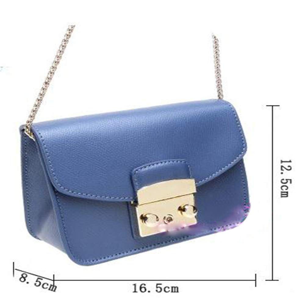 Amazon.com: LXYFMS Korean and Japanese Fashion Leather Lock Small Square Bag Ladies Handbag (Color : Blue): Home & Kitchen