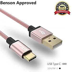 USB Type C Cable, OKPOW Hi-speed Gold Plated Nylon Braided USB Type C to Type A (USB-C to USB-A) Cell Phone Charging Cable for MacBook 12 inch Google Chromebook Pixel Nexus 5X/6P 3.3ft/1M