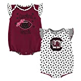 Gen 2 NCAA South Carolina Fighting Gamecocks Newborn & Infant Heart Fan 2pc Bodysuit Set, Multi, 3-6 Months