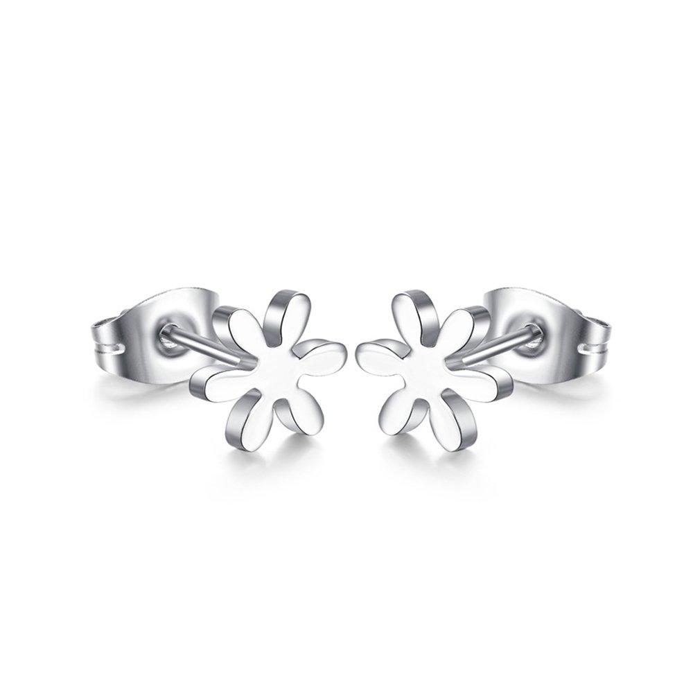 Titanium Sunflower Women Silver Stud Earring SmileMissH E071802