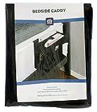 Richards Homewares Grey Gearbox 6 Pocket Bedside Storage Mattress Book Remote (Caddy, Black)