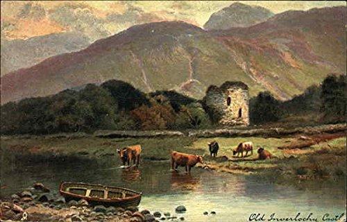 Old Inverlochy Castle Tuck's Oilette Series Original Vintage Postcard - Inverlochy Castle