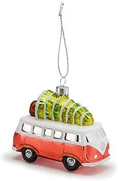 VW Bus Weihnachtsschmuck Baumkugel Bulli Deko Ornament Weihnachten orange