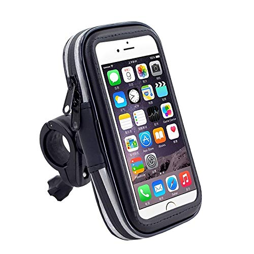 DFV mobile - Professional Reflective Support for Bicycle Handlebar and Rotatable Waterproof Motorcycle 360 º for => OUKITEL WP5000 (2018) > Black