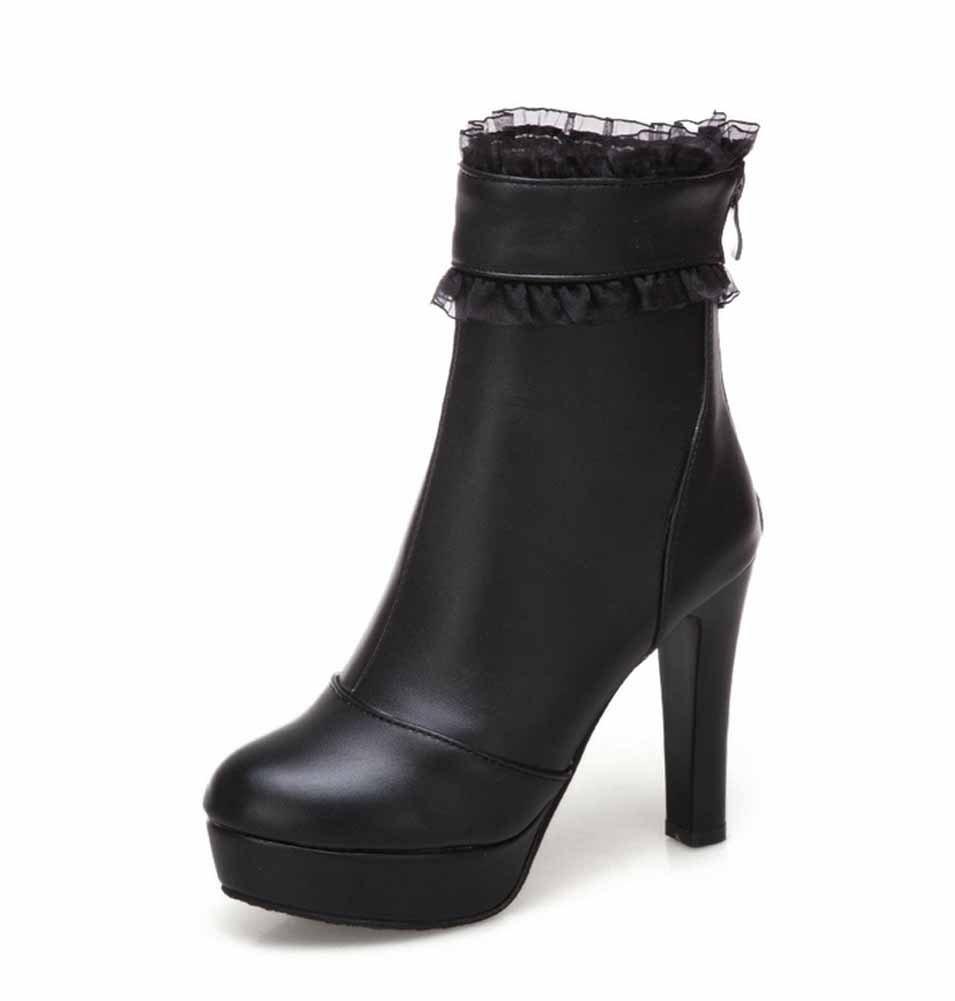 Frauen Plattform Stiefel 2018 Herbst Neue Mode Lace Side Martin Stiefel Große Größe 40-43