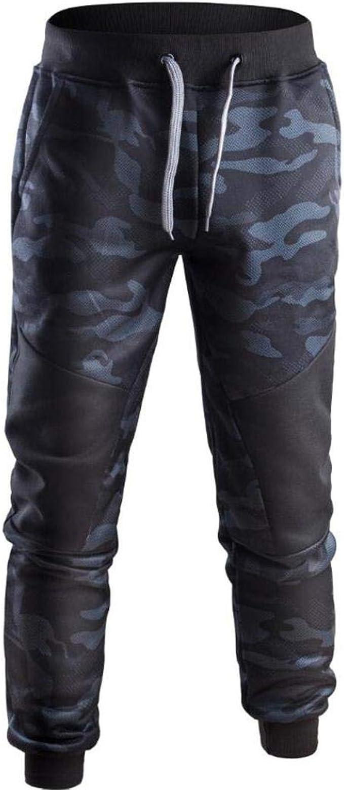 ZODOF Camuflaje cosiendo Pantalones Casuales de los Hombres ...