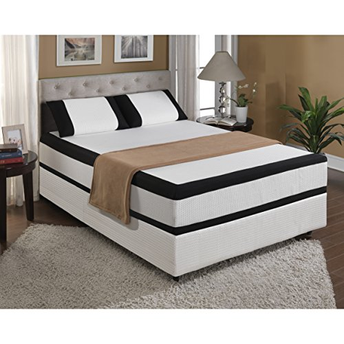 "Emerald Home ESG12QM 12"" Cool Jewel Mattress Starlight Gel with Memory Foam, Queen"