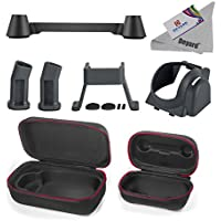 Deyard 5 In 1 Dji Mavic Pro Drone Accessories Kit Bundle, Carrying Case, Landing Gear Leg Extenders, Lens Hood, Remote Controller Joystick Protector