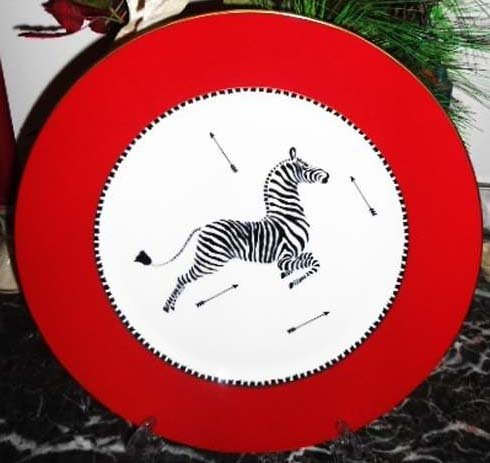 Lenox Scalamandre Zebras Round Buffet Serving -