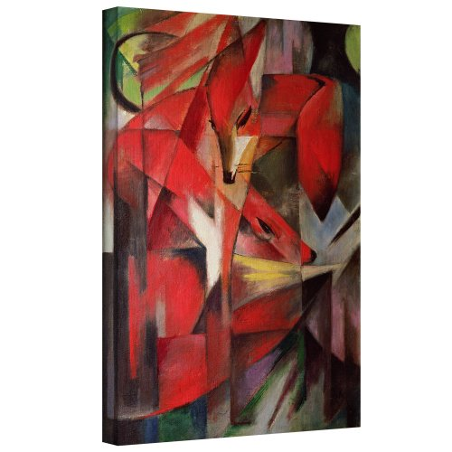 ArtWall Franz Marc 'The Fox' Gallery Wrapped Canvas Artwork, 36 by 48-Inch Franz Marc Deer