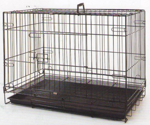 24 Inch Foldable Breeder Puppy Kitten Rabbit Training Cage With 1/2 inch Bottom Wire Grid Mesh Floor